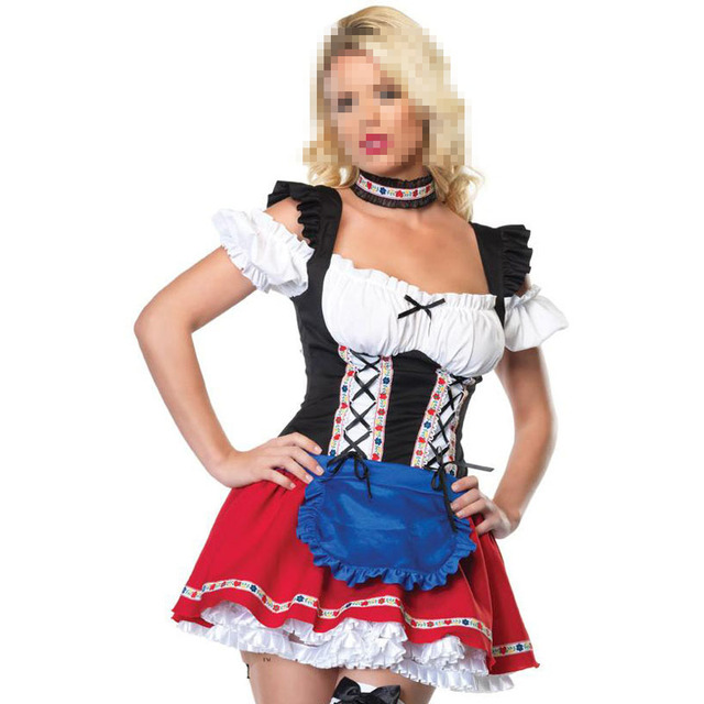 65c2f6ee73de Halloween Maid Service Uniforms Temptation Beer Girl Oktoberfest Costume  German Wench Fancy Club Bar Dress Cosplay Party Suit
