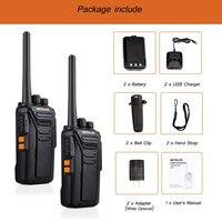 """מכשיר הקשר 2pcs Retevis RT27 מכשיר הקשר PMR רדיו PMR446 / FRS 0.5W / 2W VOX USB טעינה 2 תחנת רדיו דרך Portable מערבל מקמ""""ש (5)"""