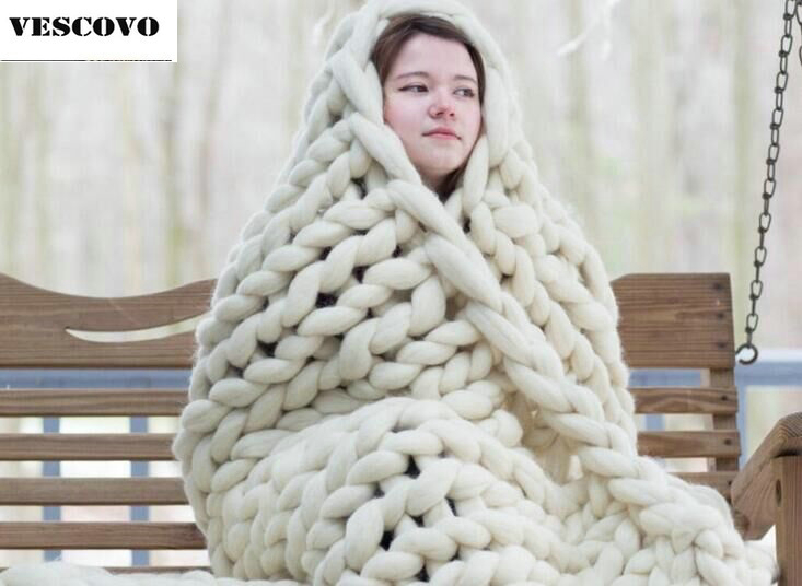 1 8kg 100cm 120cm Super Thick Hand knitting wool Chunky blanket