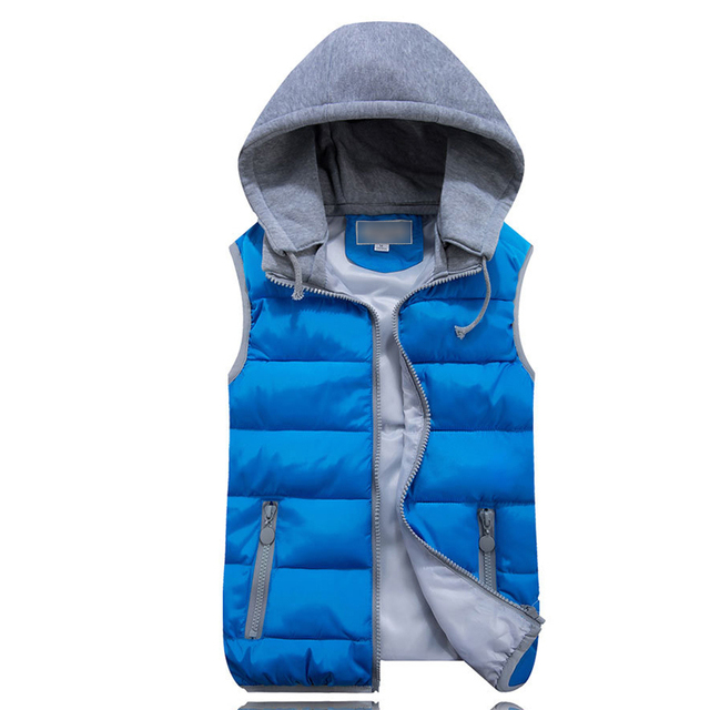 Winter Jacket Women Vest Hooded Down Cotton Warm Waistcoat Sleeveless Coat For Female YL554   20