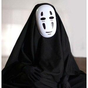 Image 2 - Kids / Adults Anime Movie Spirited Away No Face Man Cosplay Costume Full Set Halloween Costume Robe + Gloves + Black/Purple Mask