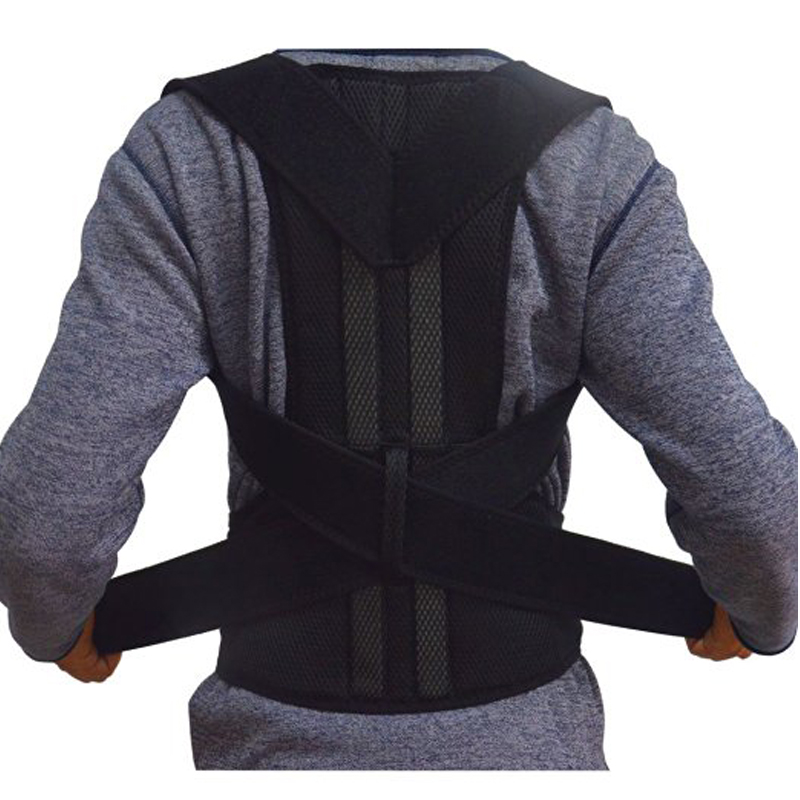2016 Adjustable Posture Corrector Brace Back  Straighten Support Belt Lumbar Brace Support  Waist Length Fits 33-55 Black S-XXL free size o x form legs posture corrector belt braces