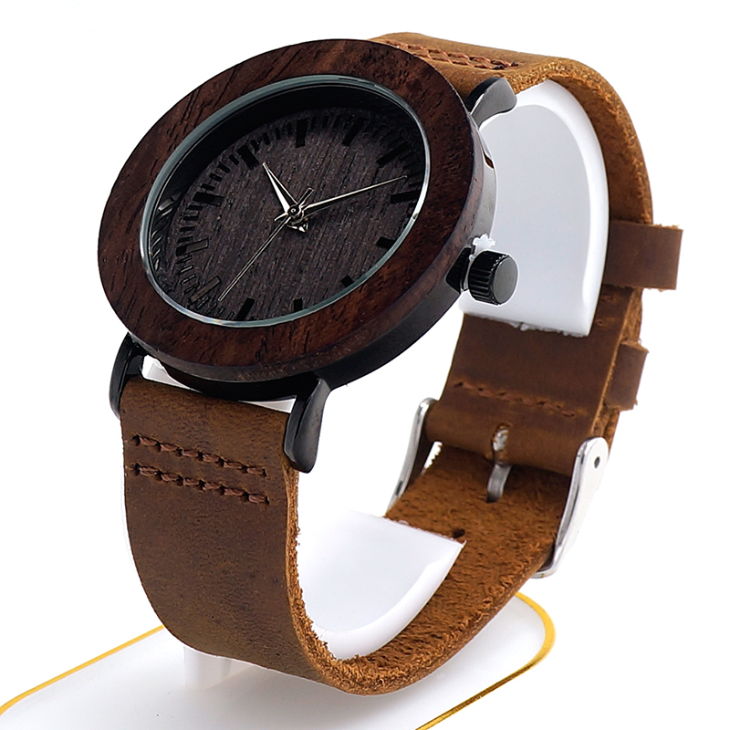Luxury 2017 Brand BOBO BIRD Watch Women Genuine Leather Strap Wooden Wristwatches for Ladies Gifts relogio