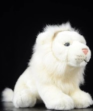 Free shipping Lovely white African lion doll simulation  animal plush toys 26 cm