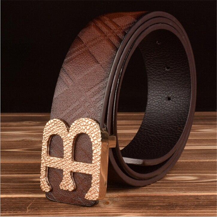 249172fc0d390 2015 New Brand Designer Belts Men High Quality 3 Colours Male Genuine  Leather Belt B Letter Metal Buckle Belts Wholesale
