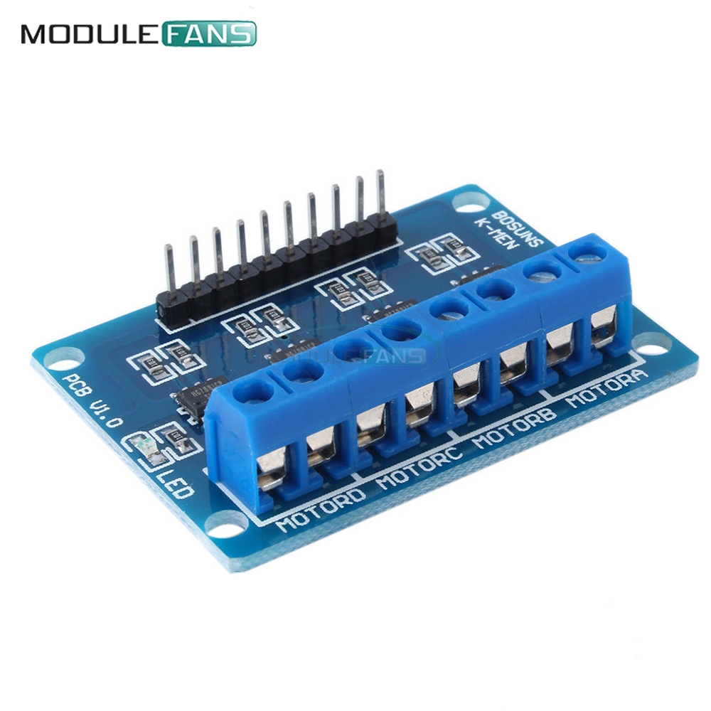 Motivated 4ch 4 Channel Hg7881 Chip H-bridge Dc 2.5-12v Stepper Motor Driver Module Controller Pcb Board 4 Way 2 Phase For Arduino 100% Original Integrated Circuits