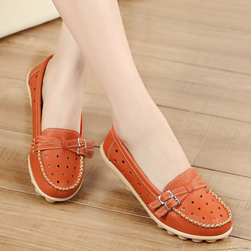 530d8da4104 Genuine Leather Spring Women Flats Shoes Female Loafers Tenis Feminino  Casual Shoes Ladies Shoes Slip On Flats Moccasins DT917-in Women s Flats  from Shoes ...
