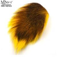 MNFT 염색 사슴 꼬리 머리 모피 Bucktails 벅 플라이 묶는 바닷물 파리 드라이 플라이 묶는 재료 노란색 녹색 블루 자연 색상