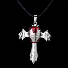 MJ Jewelry Movie Necklace Iron Man Pendant Necklace Sword Wings Rotatable Quality