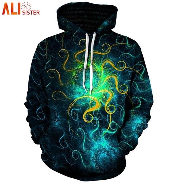 050d7826d9 US $18.78 40% OFF|Aliexpress.com : Buy Alisister Plus Size Galaxy 3d  Hoodies Euphoric Space Punk Pullover Men Women Long Sleeve Tracksuit Hombre  Tops ...