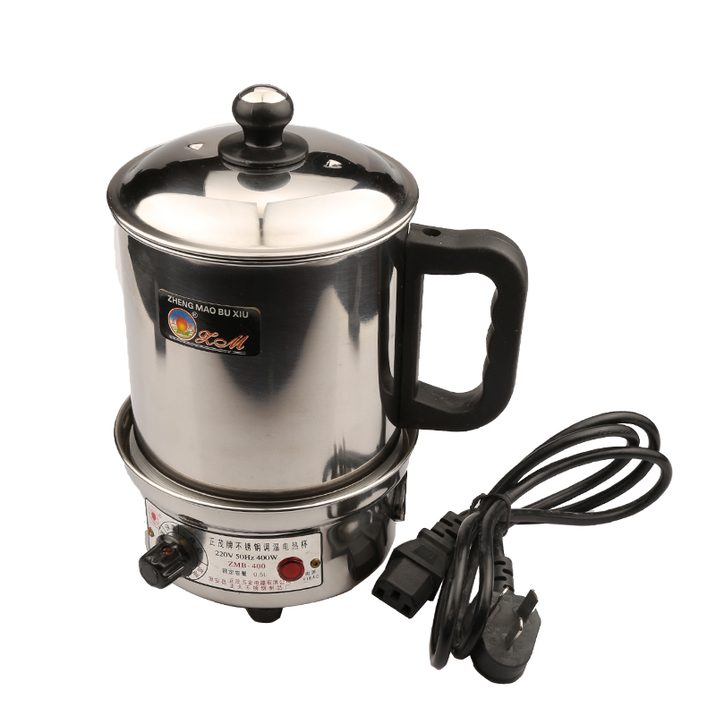1.2L 400W 220V all Stainless steel detachable portable electric cup 12CM diameter cleaning convenient 220v 600w 1 2l portable multi cooker mini electric hot pot stainless steel inner electric cooker with steam lattice for students