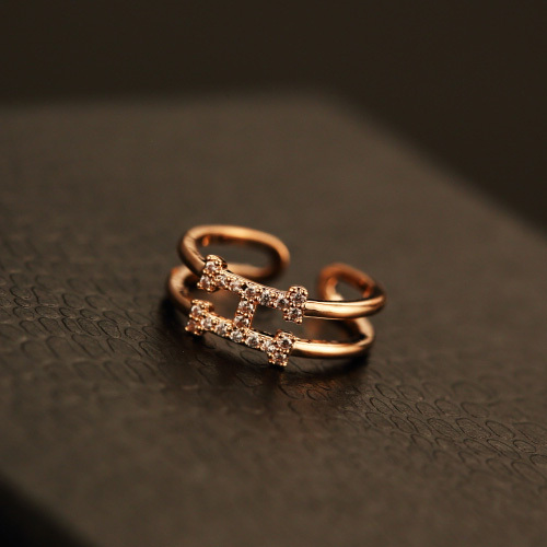 Top Quality Plated Rose Gold Women Mid Finger Rings For Women With