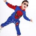 TZ365, Comic cosplay classic Spiderman Niños Niños deportes traje 2 unids Muchachos del Traje del chándal sistema de la ropa del Traje de Los Niños Set para 2-7y