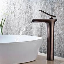 Basin Faucets Bathroom Waterfall Single handle Basin Taps Drawing Chrome Tap Bathroom Accessories Single handle Mixer Faucet A17 basin faucets gold plating copper mixer taps single handle bathroom torneira benheiro xt805