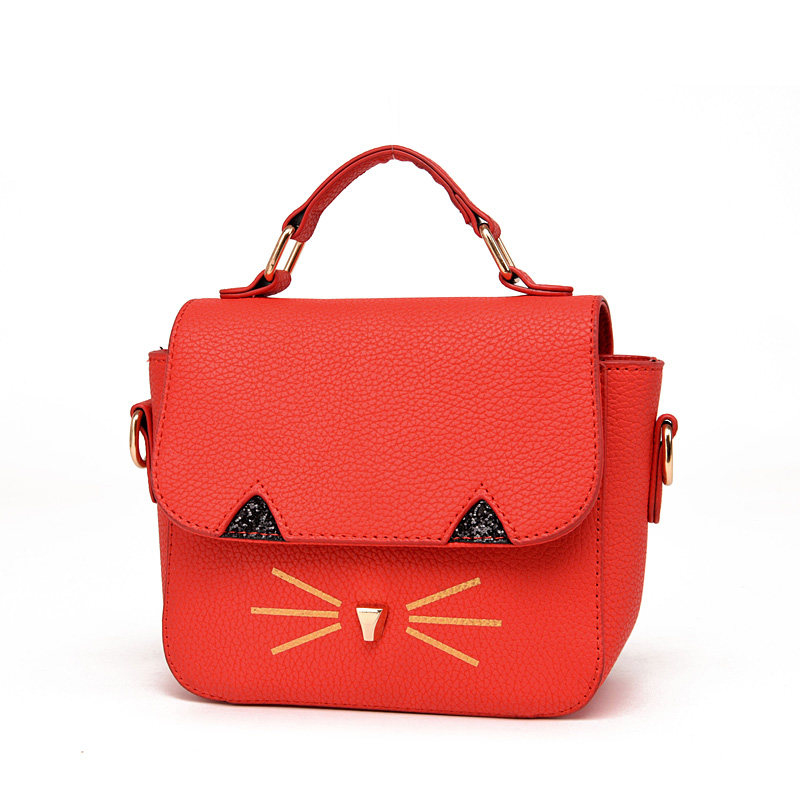 Fashion Cat Small Square Bag Japan And Korean Style Mini Hand Bag Luxury Ladies Stylish PU