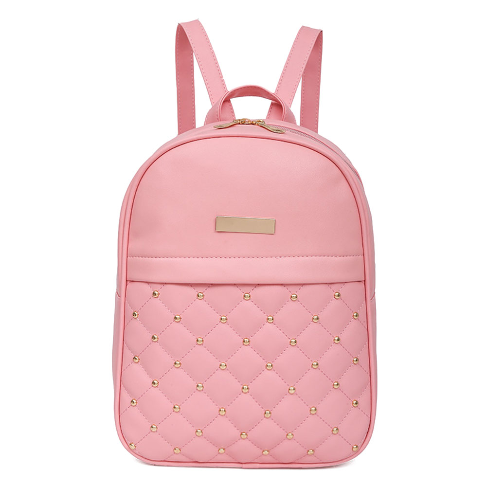 Hot Fashion Women Bead Backpack Female Casual PU Leather Travel Rucksack Shoulder Bag School Backpack for Girls mochila wmnuo women backpack cow leather for girls school bags fashion shoulder bag mochila designer travel bag casual computer backpack