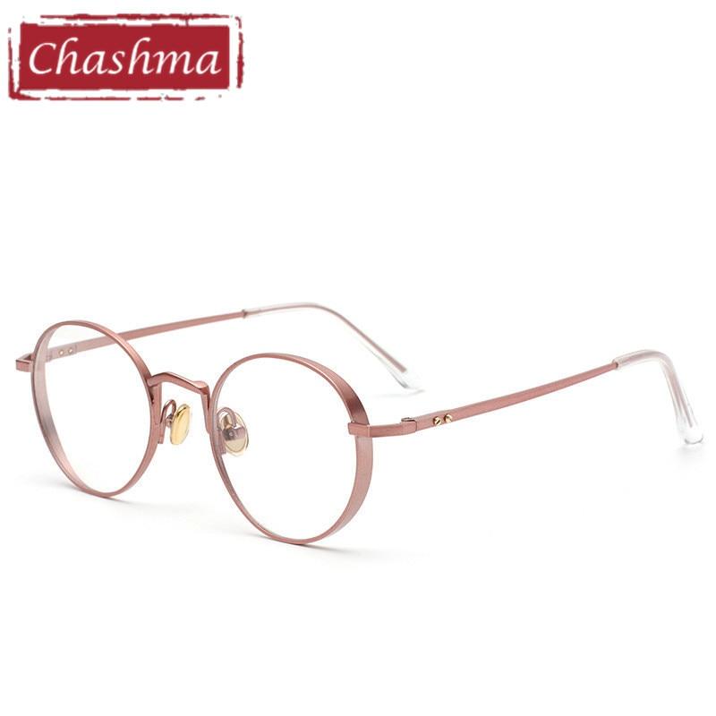 ea6244ebc0 Chashma marca tendencia redondo gafas de Marco Vintage óptica gafas de Marco  de las mujeres y los hombres con estilo Retro de vidrio en De los hombres  gafas ...
