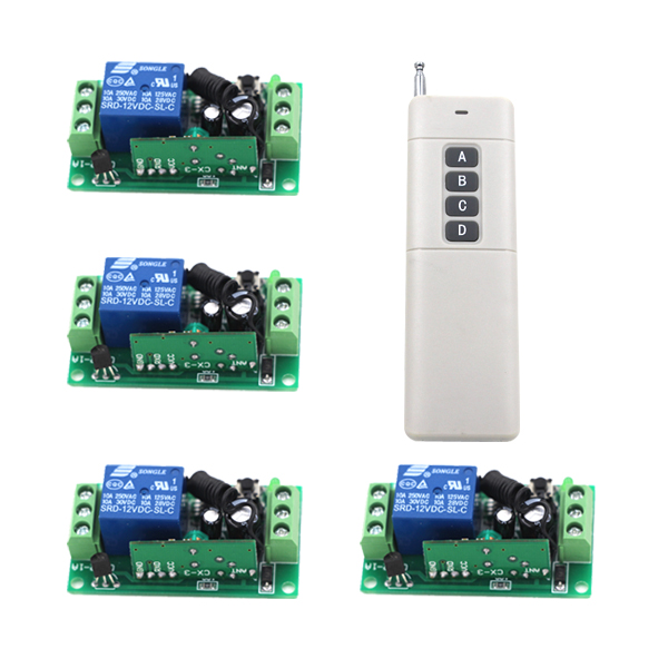 DC9V DC24V 1CH RF wireless remote switch wireless light Lamp LED switch 1 Receiver 1 Transmitter Remote ON OFF Controller ac 220v 1ch rf wireless remote switch wireless light lamp led switch 1 mini receiver 4 transmitters on off 315mhz or 433mhz