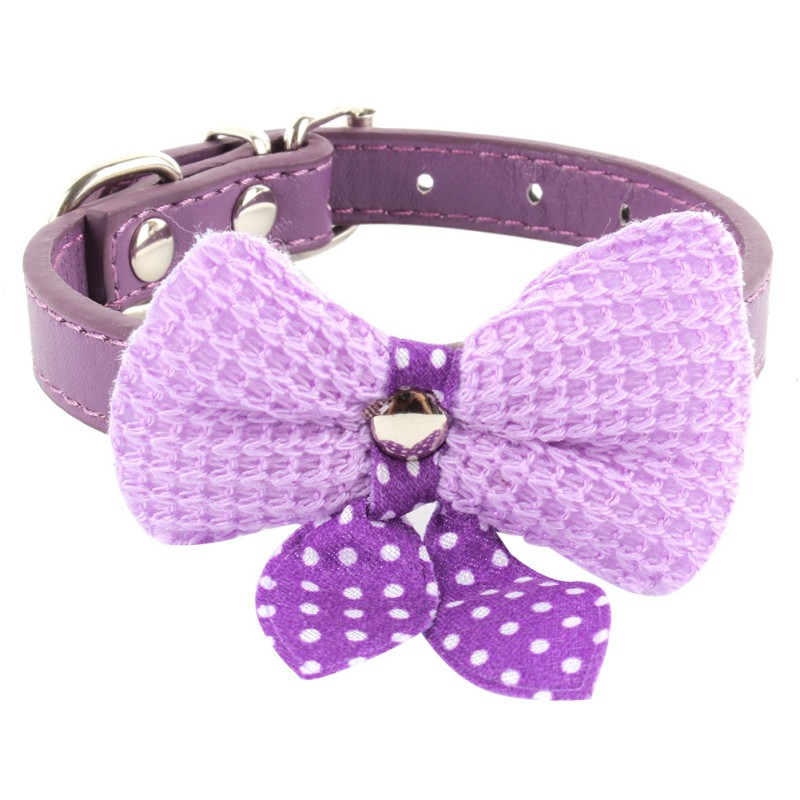 8 Colors Big Sale Pu Leather Dog Collars For Small Dogs Adjustable Buckle Pet Puppy Dog Cat Collar