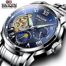 цена HAIQIN Men's Watches Brand Luxury Mechanical Male Watches Automatic Tourbillon Fashion Military Clock Men Wristwatch Relojes Man онлайн в 2017 году