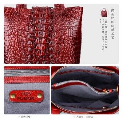brown Label Individuelles Krokodil Private Amerikanische Logo Black green Berühmte Große Tasche purple Muster Weibliche red Und Handtasche Mode Großhandel Europäische Marke Akzeptieren 5EqUx5