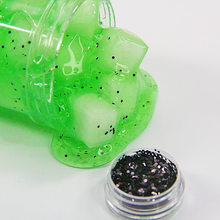 Black Glitter Slime Filler For Fluffy slime Kids Clay DIY Accessory Decoration Artificial Fruit seed(China)