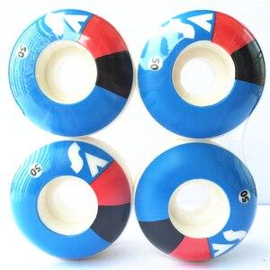 Image 5 - 4 Cái/bộ USA Ván Trượt Bánh Xe 50 54 Mm Ván Trượt Bánh Xe Nguyên Tố Bánh Xe Đôi Đính Đá Sàn Tàu PU Ruedas Patines nhựa Rodas