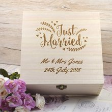 64776f6b5e Personalised Engraved Just Married Wedding Keepsake Box Wedding Memories  Newly-Wed Gift Presents For Newly