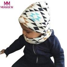 Autumn Winter Cotton Children Hats Set Cartoon Print Baby Girls Boys  Beanies Caps 2018 Toddler Child Cap Scarf baby accessories 59a05daf5803