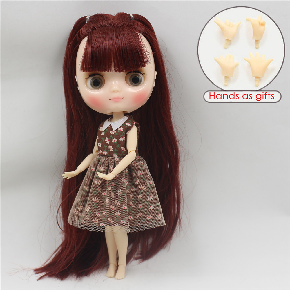 Free shipping middie doll BL0362 Joint body with bangs fringes 1 8 20cm bjd gift toy