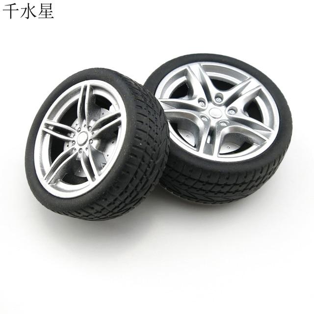 40/48mm rueda de simulación tecnología de bricolaje ruedas de juguete de producción pequeña 1:15 accesorios de rueda de goma manual
