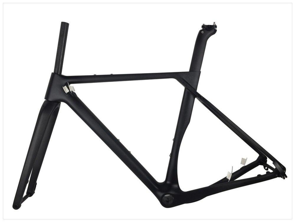 Clearance Spcycle 2019 New Aero Carbon Cyclocross Gravel Bike Frame And Wheelset T1000 Carbon Disc Brake Road Bike Frameset 49/52/54/56cm 4