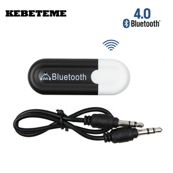 KEBETEME Mini Bluetooth 4.0 Music Audio Stereo Receiver 3.5mm A2DP Adapter Dongle A2DP 5V USB Wireless Android/IOS