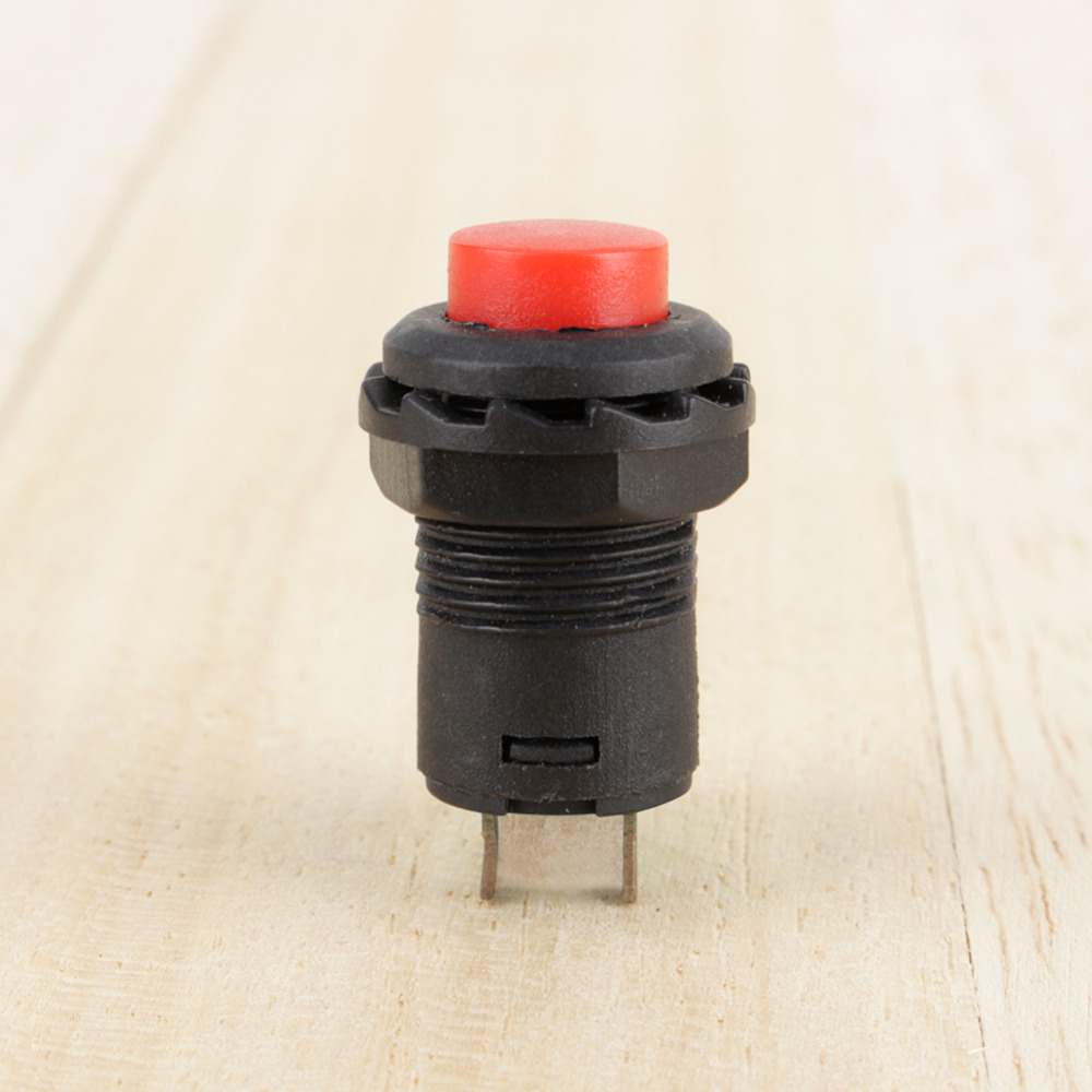 Momentary Round Push Button Switch 12mm SPST 5 x Red Off- On