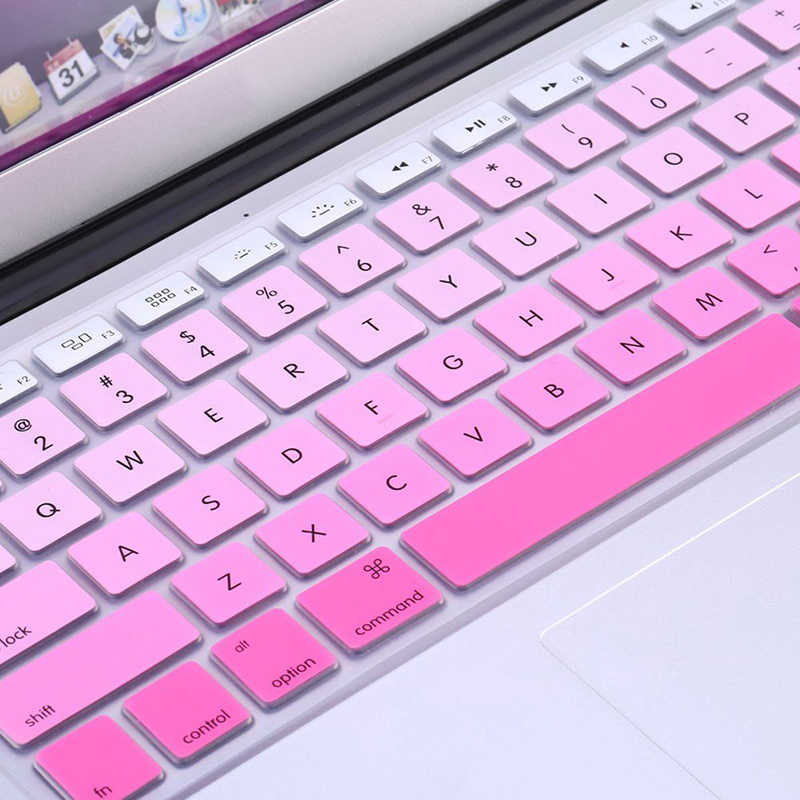 "New 1pc Rainbow Silicone Keyboard Case Cover Skin Protector for iMac Macbook Pro 13"" 15"" Cover Protector"