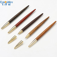 Mahogany Ballpoint Pen High Quality Business Gifts Wooden Gel Pen Office Creative Wooden Ball Pen Customization Stationery P400