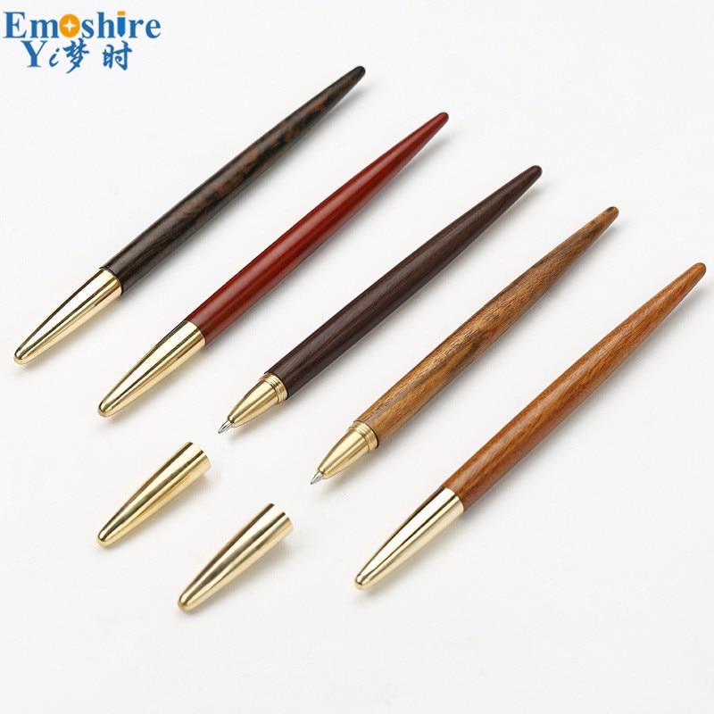 Stylo à bille en acajou cadeaux d'affaires de haute qualité stylo Gel en bois bureau stylo à bille en bois créatif personnalisation papeterie P400