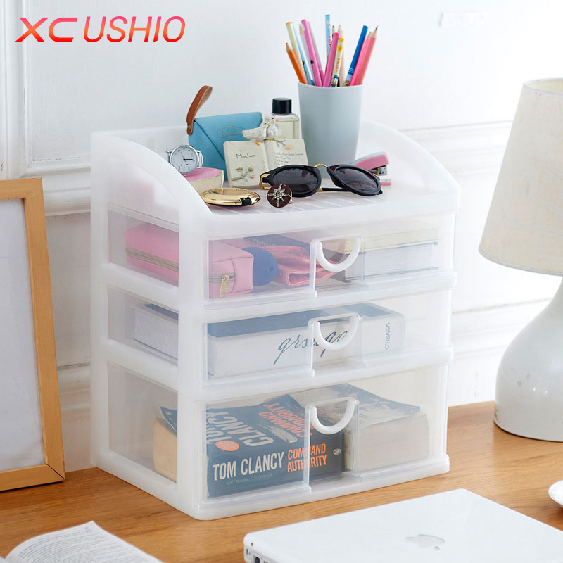 Multilayer Transparent Plastic Storage Box Drawer Box Organizer Cosmetic Jewelry Drawer  ...