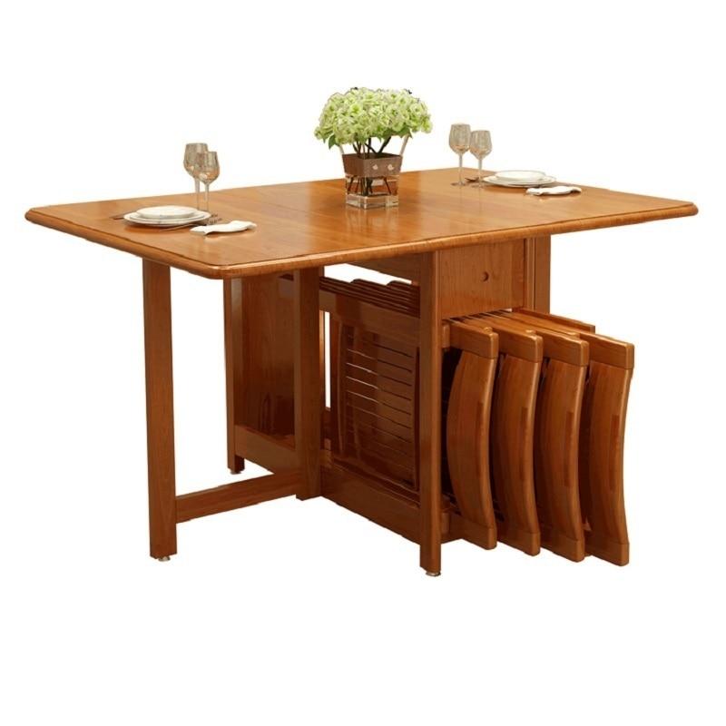 Pliante Room Pieghevole Redonda Marmol Tafel Set Escrivaninha Tavolo Dinning Oro De Jant ...