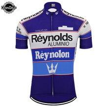 2020 클래식 남성용 사이클링 저지 여름 레이스 팀 블루 바이크 사이클링 의류 레이놀즈 탑스 MTB 저지 레이싱 의류 트라이 애슬론