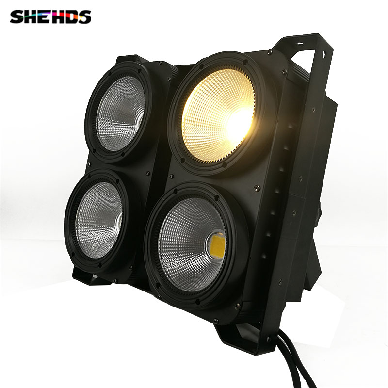 2pcs/lot Combination 4eyes 4x100W LED COB blinder wash light Warm/Cool/Warm+Cool White for studio KTV DJ Show Club Free Shipping for audience arena light warm light blinder 2600w also have led cob blinder light type for ballet theatre show plaza