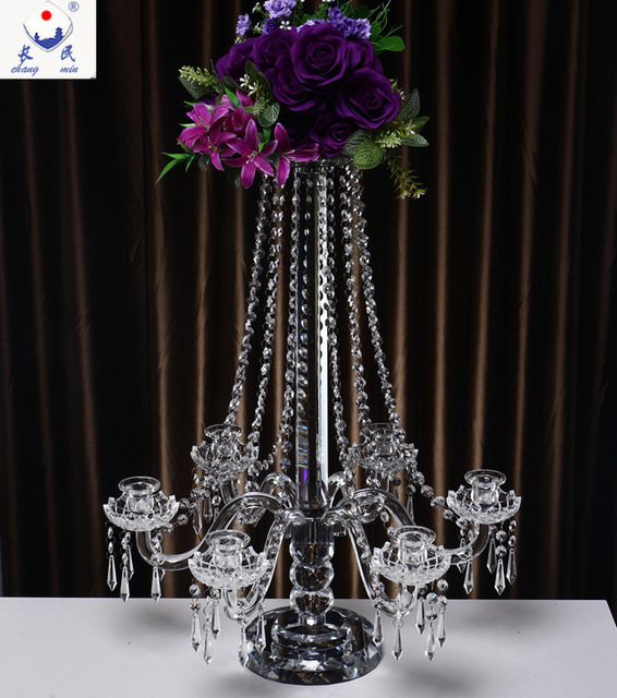 6 arms luxurious K5 crystal candle holders, wedding decoration,hotel decoration layout,Home Furnishing preferred