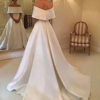 casamento Fashionable Wedding Gown A Line Long Bridal Dresses Vestido De Noiva gelinlik Wedding Gowns Capped Sleeves Custom