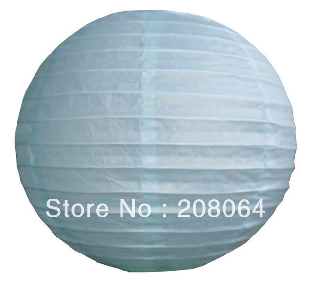 "[FREE SHIPPING] 1000PCS/LOT 10"" SKY BLUE ROUND PAPER LANTERNS WHOLESALE FOR WEDDING DECORATIONS Any Color can be Customized"