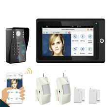 Popular 7″ WiFi Wireless RFID Password Video Door Phone intercom Doorbell IP Camera Home Alarm System+Access Control System