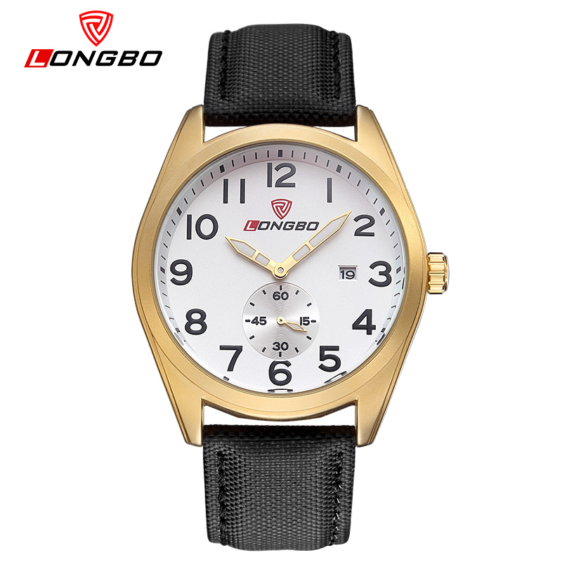 Longbo Strap Luxury Brand Relogio Masculino Date Leather Casual Watch Men Sports Watches Quartz Military Wrist Watch Male Clock curren luxury brand relogio masculino date leather casual watch men sports watches quartz military wrist watch male clock 8224