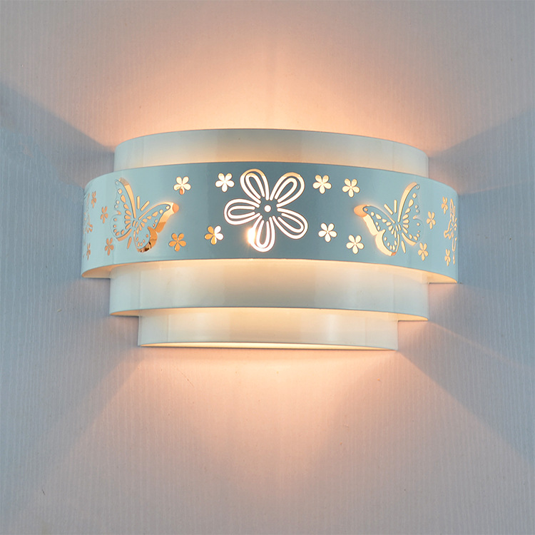 Morden-wall-lamps-Minimalist-butterfly-flower-carved-LED-E27-Wall-light-white-stereoscopic-Iron-cover-mirror