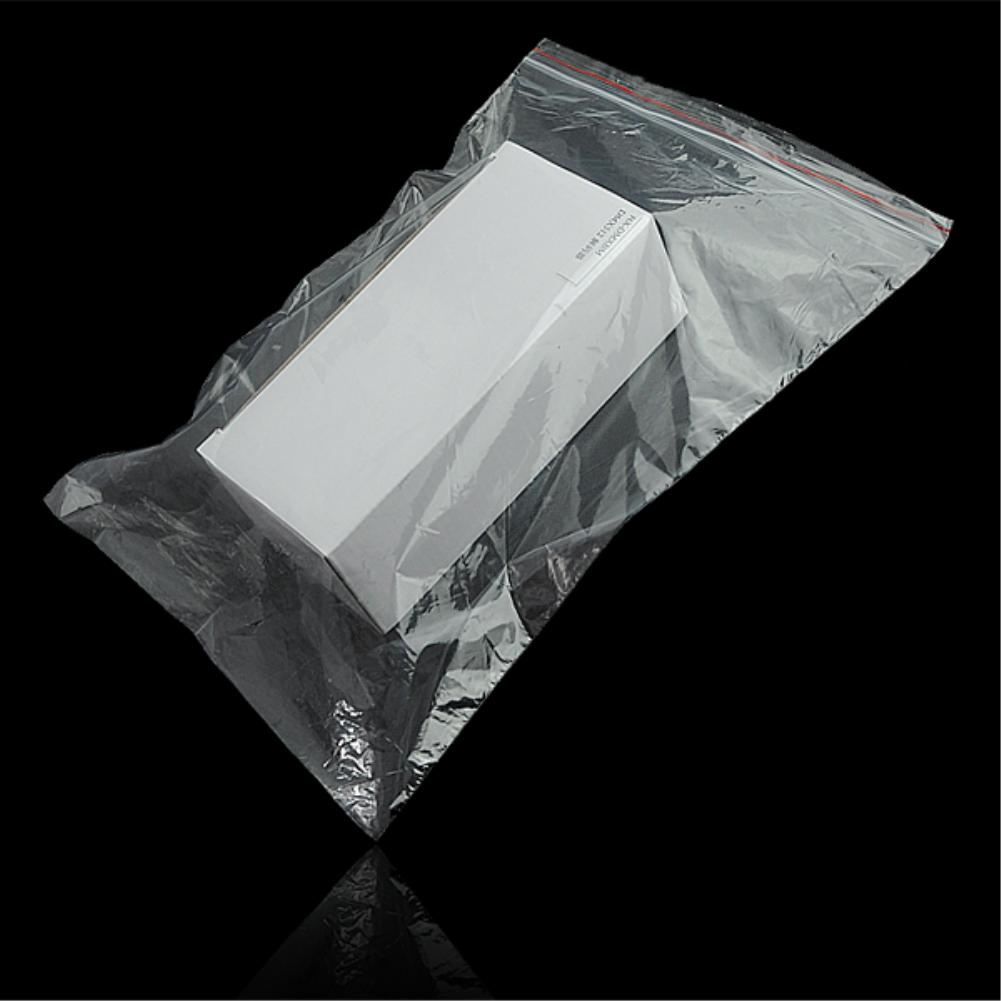 100 Pcs Transparent Sundries Storages Waterproof Grip Self Seal Zip Lock Poly Plastic Zipper Bags Reclosable Storage Bags-in Storage Bags from Home & Garden