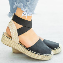 Women Sandals Casual Leopard High Heels Platform Suede Wedges Buckle Ankle Strap Ladies Pumps Wedding Shoes Zapatos Mujer 990W wetkiss 2018 open toe wedges buckle ankle strap footwear high heels women sandals summer wedges platform cow suede ladies shoes