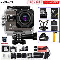 Kamera akcji ultra hd F68 F68R 4K 24FPS Novatek 96660 dla SONY IMX078 obiektyw zdalnego Wifi go wodoodporna 30m pro kamera sportowa